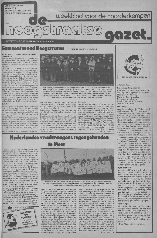 De Hoogstraatse Gazet - december 1983: nr 48 - 52 by De ...