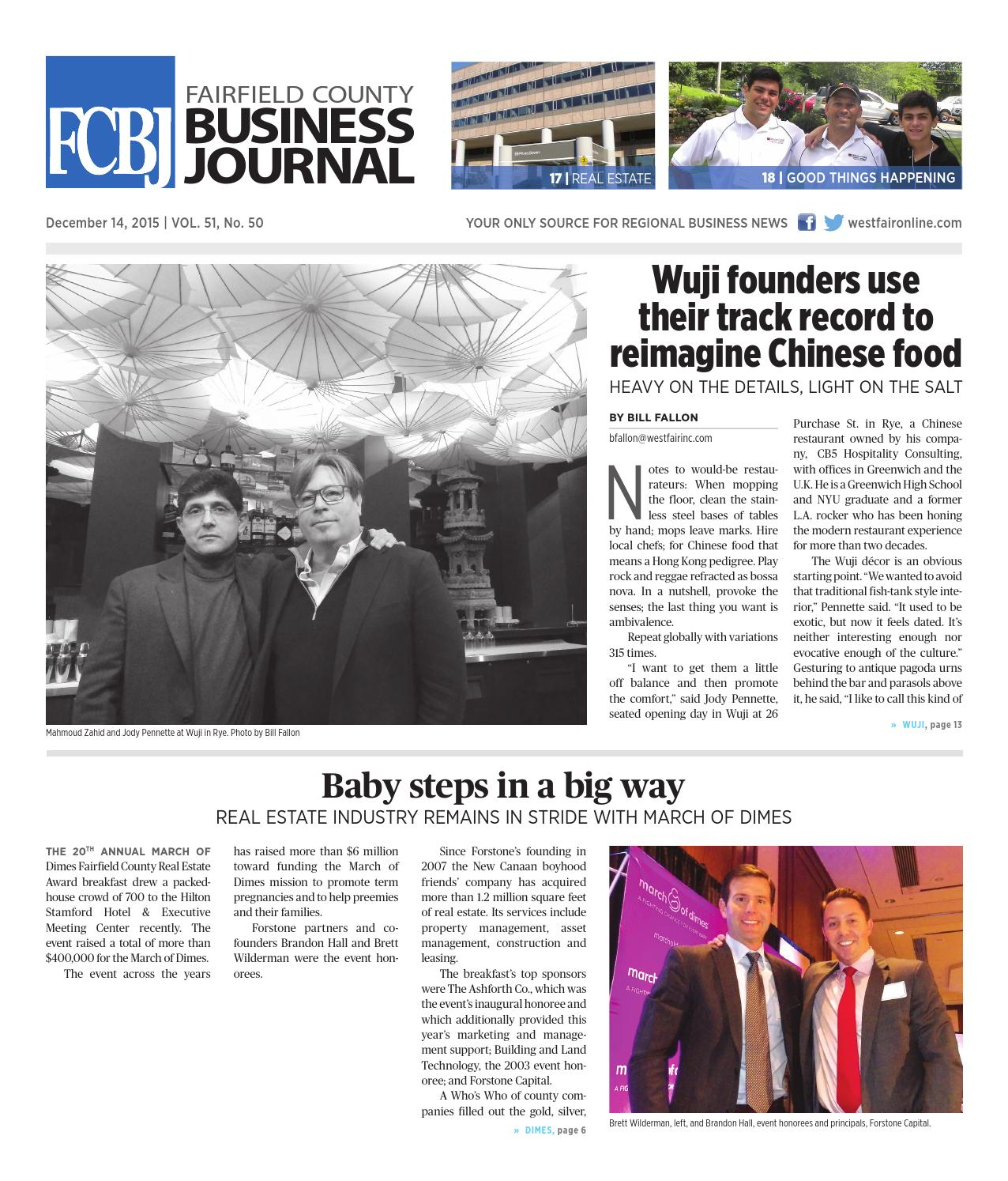 Fairfield County Business Journal 121415 By Wag Magazine