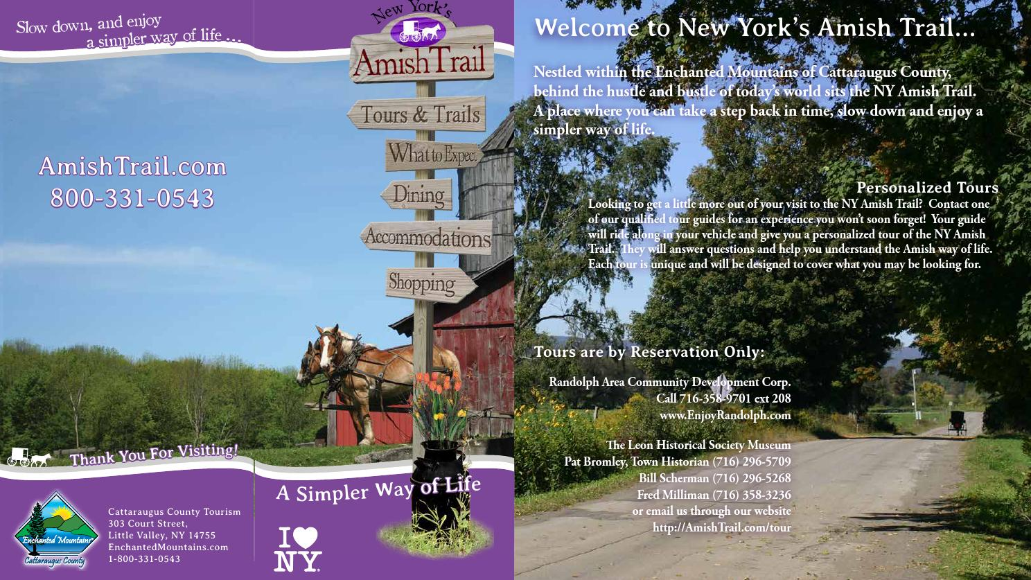 ny s amish trail brochure maps by cattaraugus county issuu