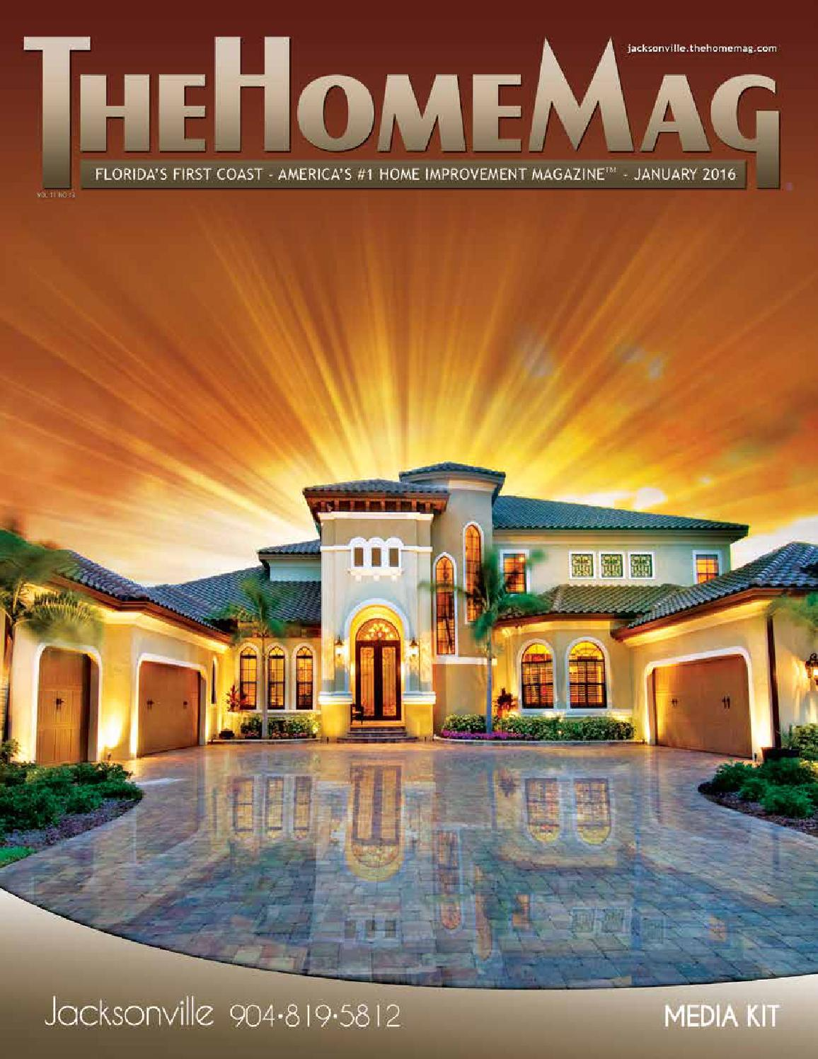 Thehomemag jacksonville media kit 2016 by first coast for The home mag houston
