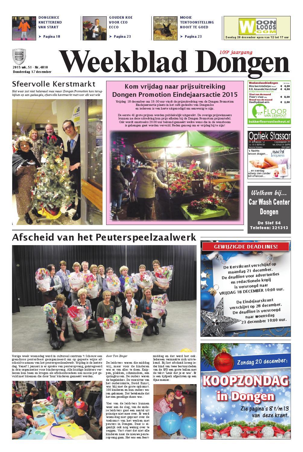 Weekblad Dongen 10-12-2015 by Uitgeverij Em de Jong - issuu