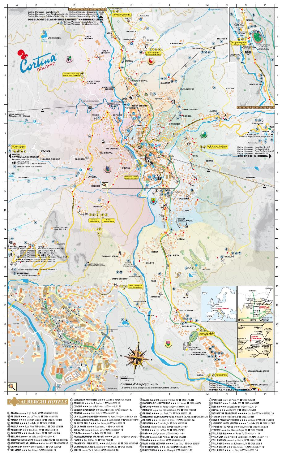 Cortina D Ampezzo Map By Cortina Dolomiti Issuu