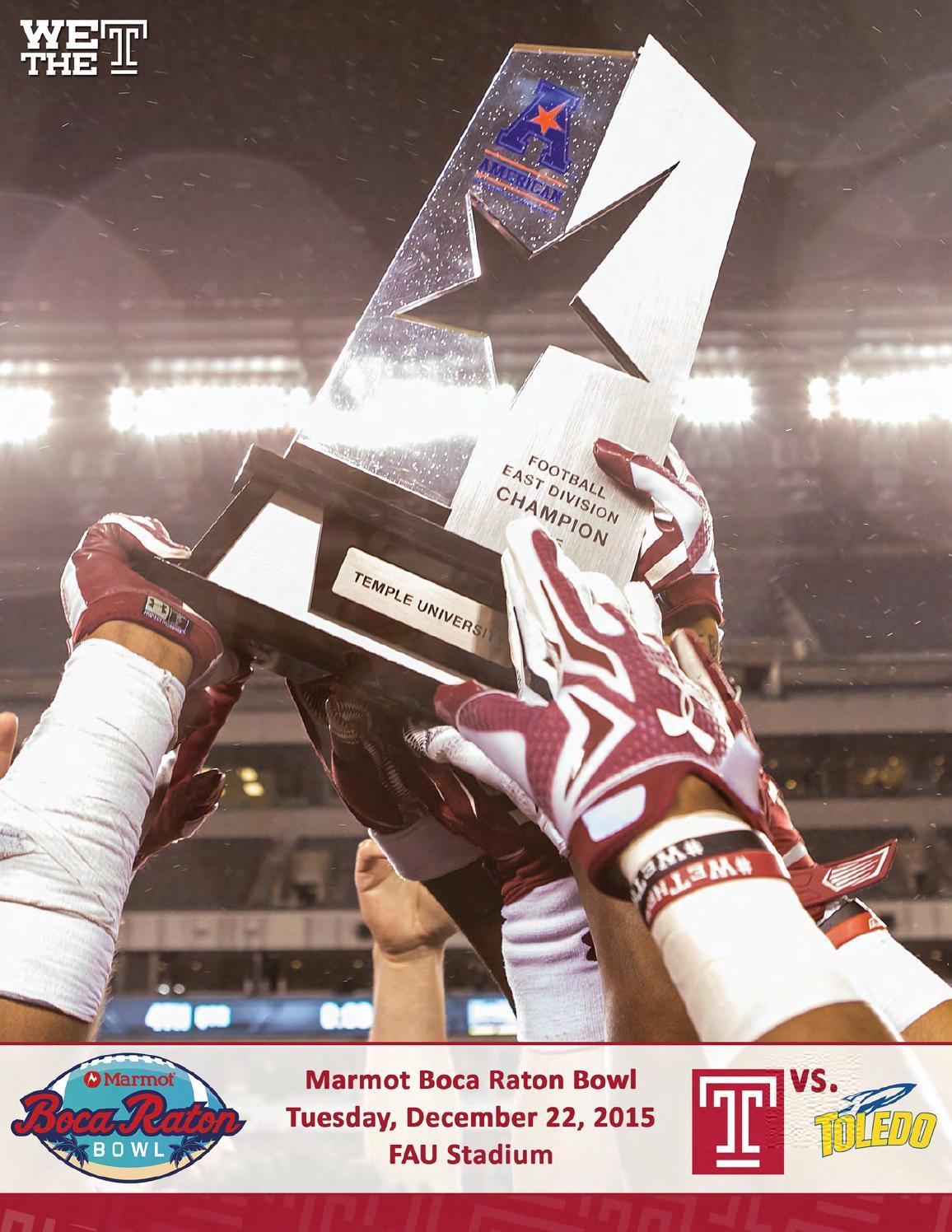 Nike NFL Jerseys - 2015 Temple Football Marmot Boca Raton Bowl Guide by Temple ...