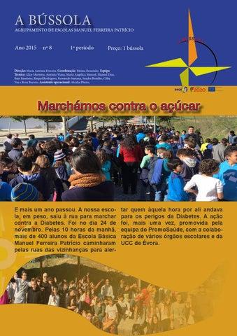"""Topo com nome """"A Bússola"""", centro com a notícia """"Marchámos contra o Açúcar"""""""