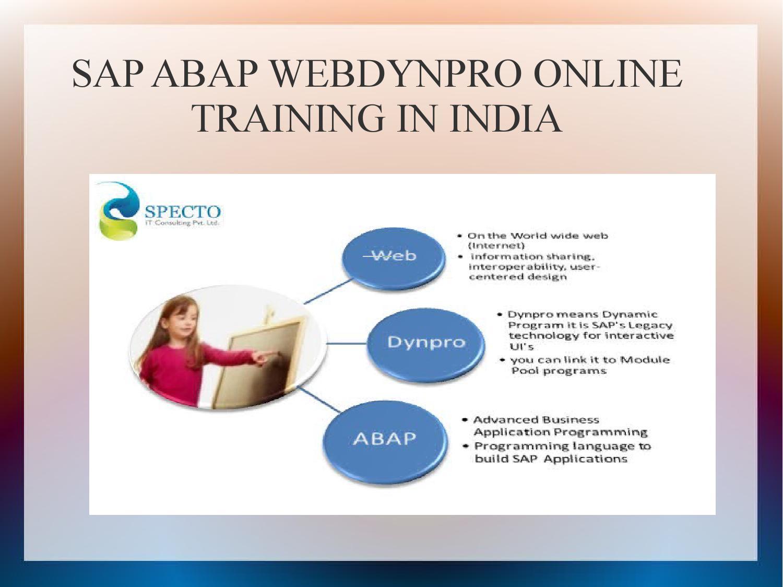 sap abap webdynpro in india by