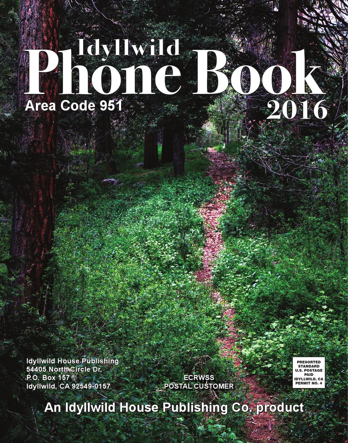 2016 Idyllwild Phone Book by Idyllwild Town Crier - issuu