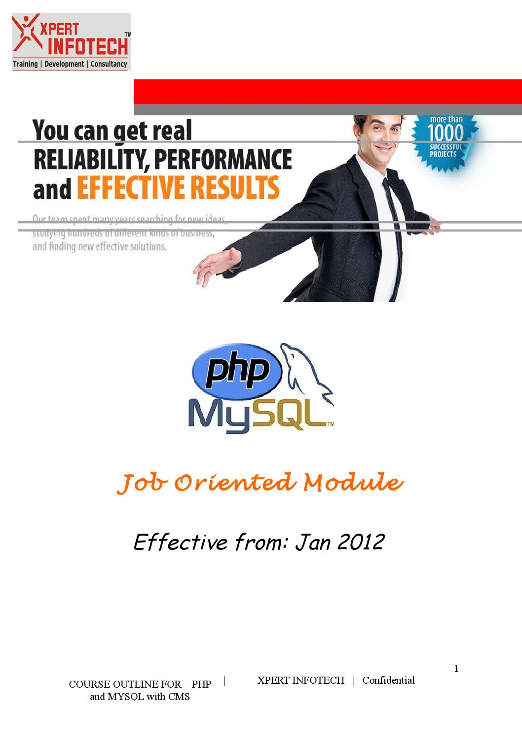 presenter manual php and mysql with cms job orientd