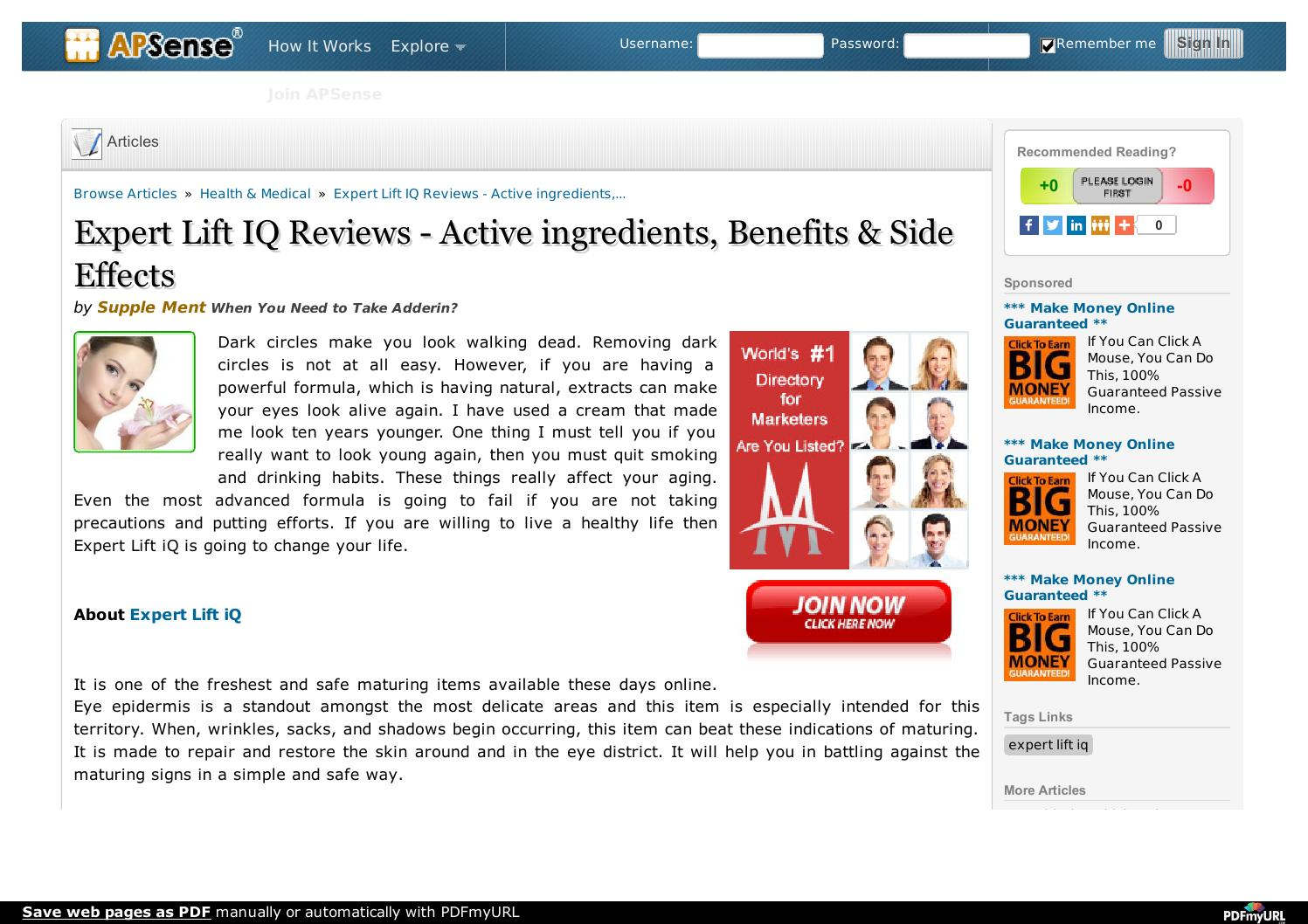 expert lift iq active ingredients benefits reviews by supplementq issuu. Black Bedroom Furniture Sets. Home Design Ideas