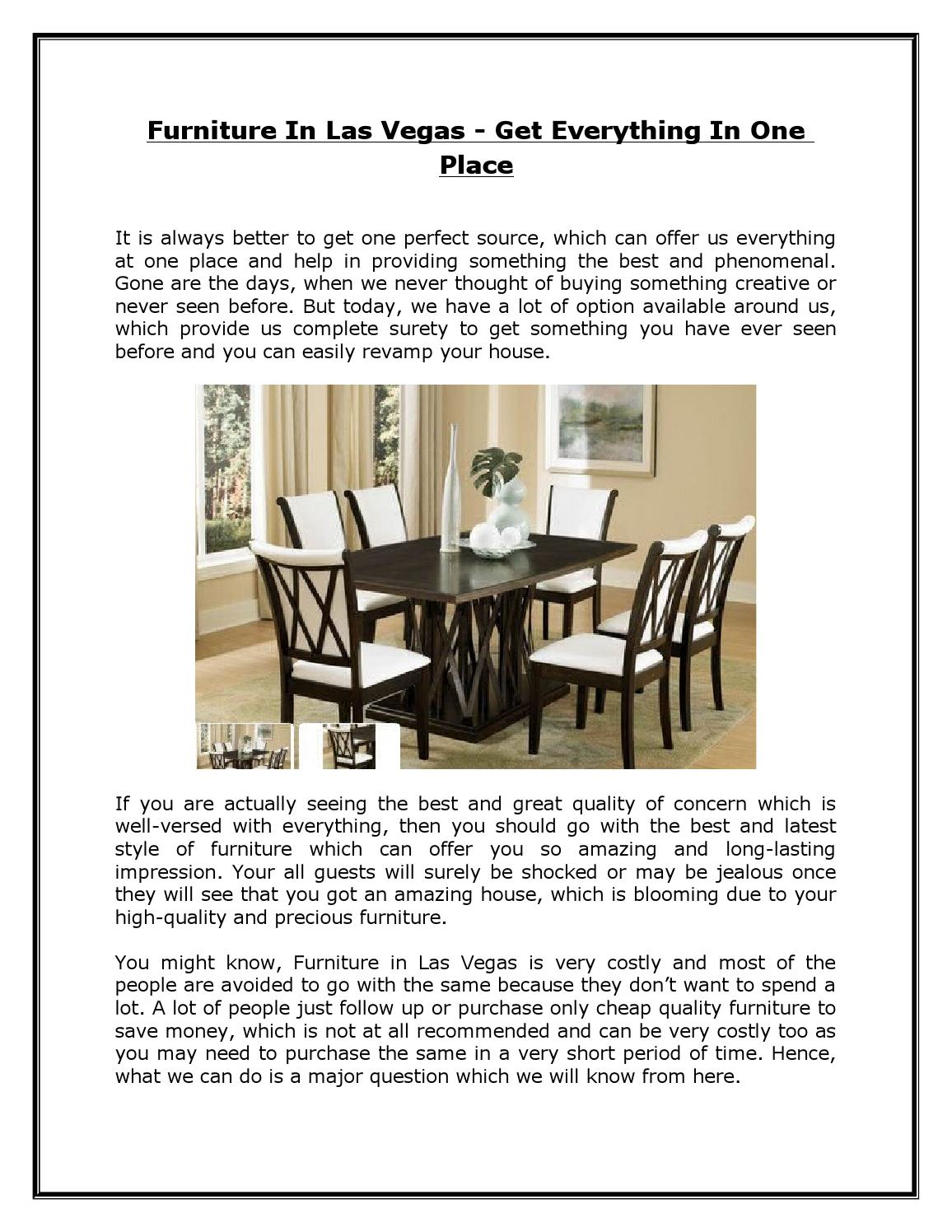 Furniture In Las Vegas Get Everything In One Place By Half Price Furniture Store Issuu