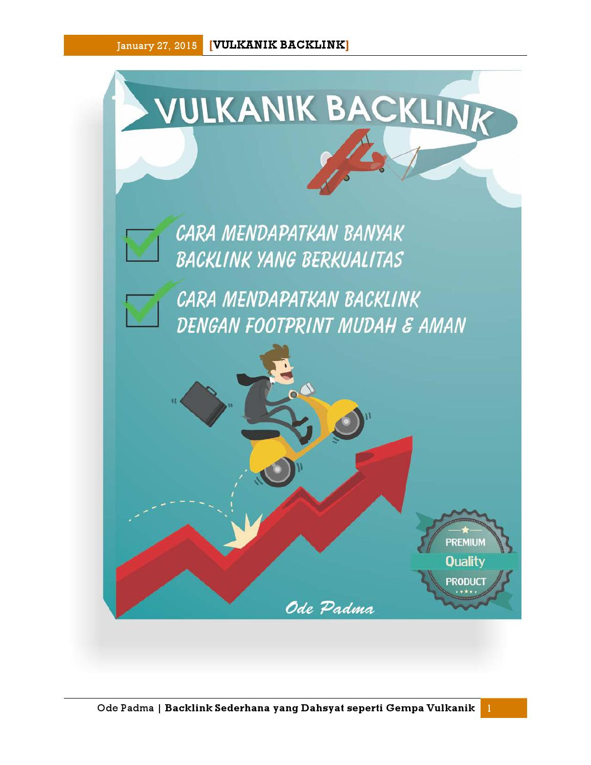 Vulkanik Backlink By Penelusuran Artikel Issuu