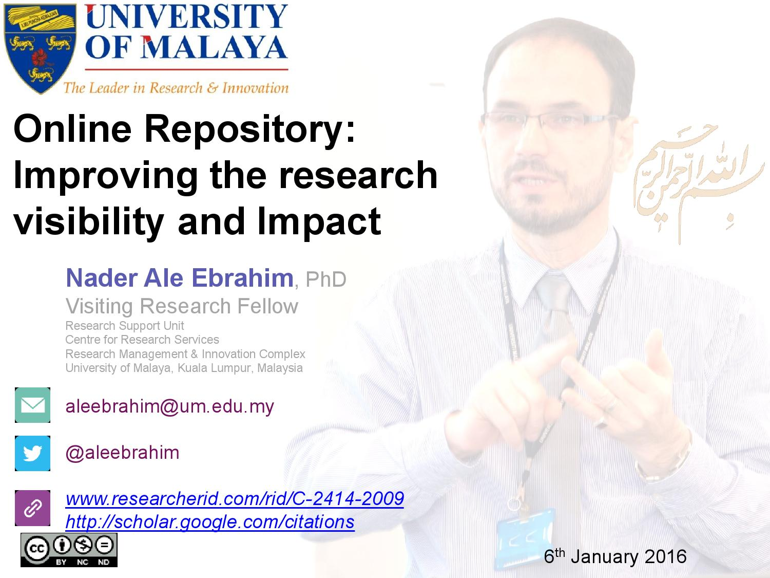 Online research repository of ucu