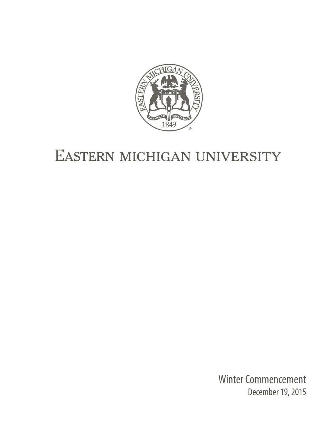 emu 2016 spring commencement by eastern michigan university division of communications issuu