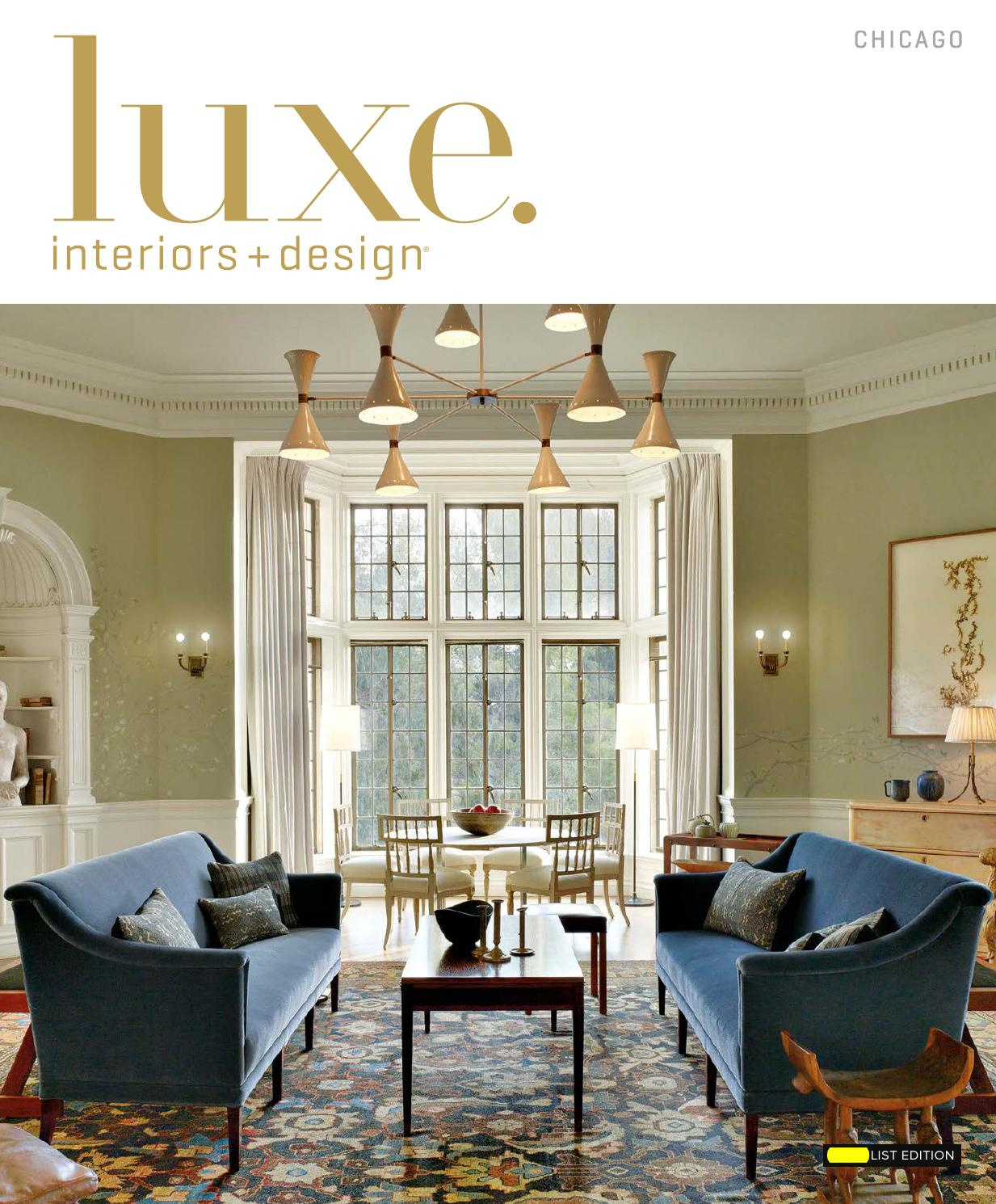 Luxe Magazine January 2016 Chicago By Sandow Media LLC