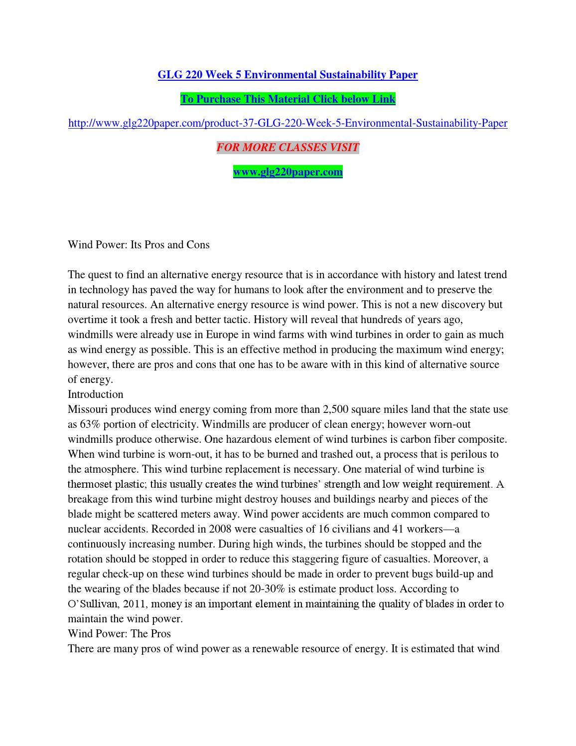 Sustainability Paper Topics