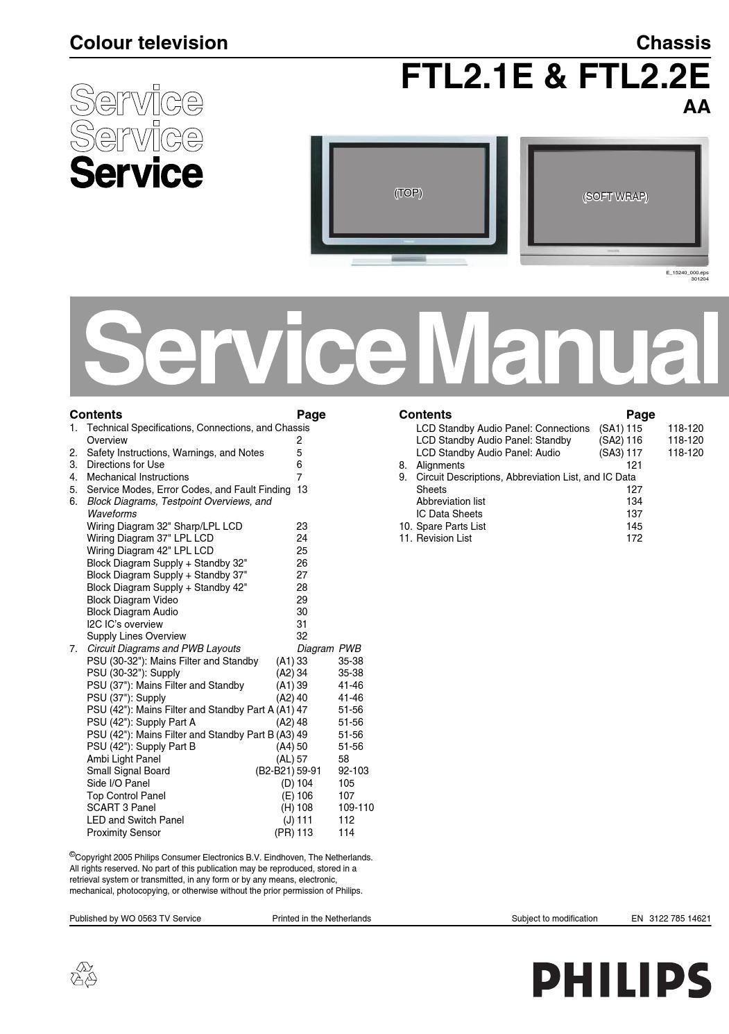 Manual De Servi U00e7o Televisores Philips Com Os Chassis Flt2
