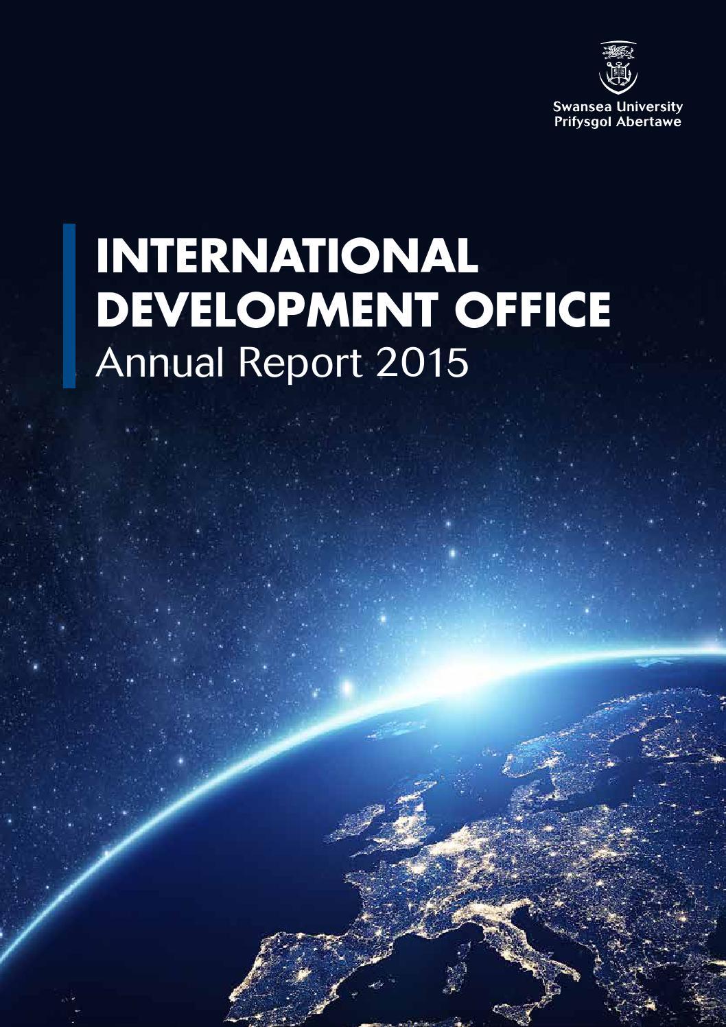Swansea University International Development Office Annual Autos Post