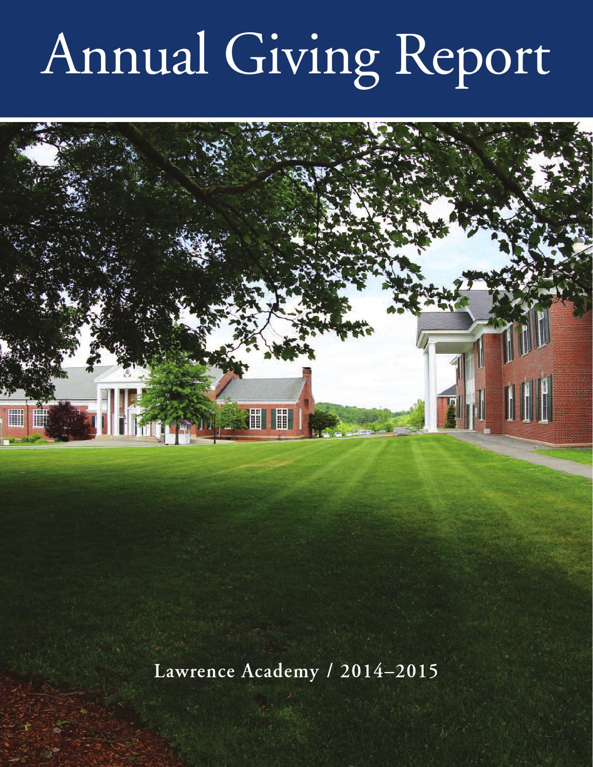 annual giving report 2016 by lawrence academy issuu annual giving report 2015