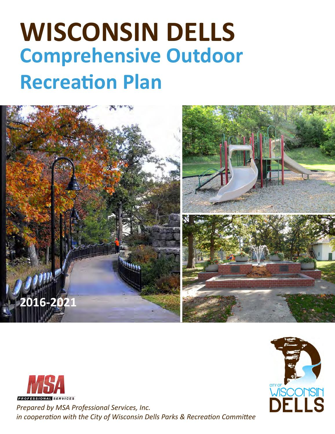 City Of Wisconsin Dells Comprehensive Outdoor Recreation Plan By