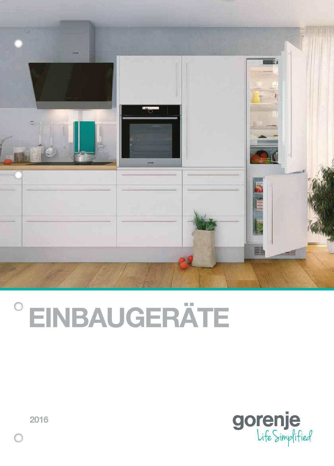 Katalog einbaugeräte 2016 by Gorenje d d issuu
