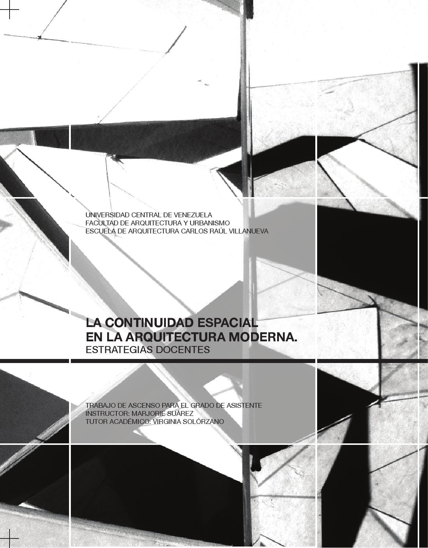 La continuidad espacial en la arquitectura moderna for Investigar sobre la arquitectura