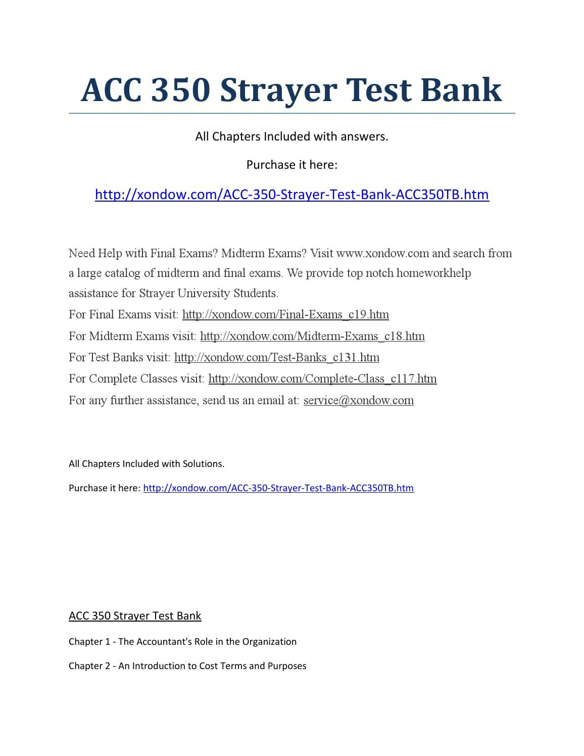 acc 305 strayer test bank