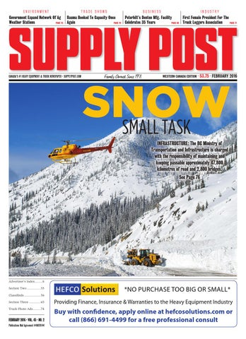 Supply Post Western Cover - February 2016