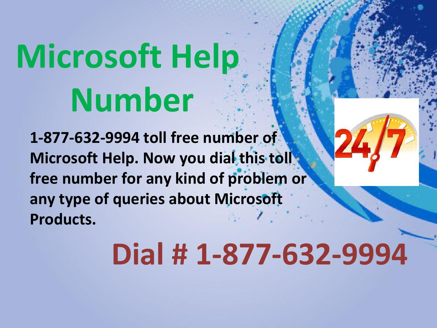 Contact us on microsoft help number 1 877 632 9994 toll ...