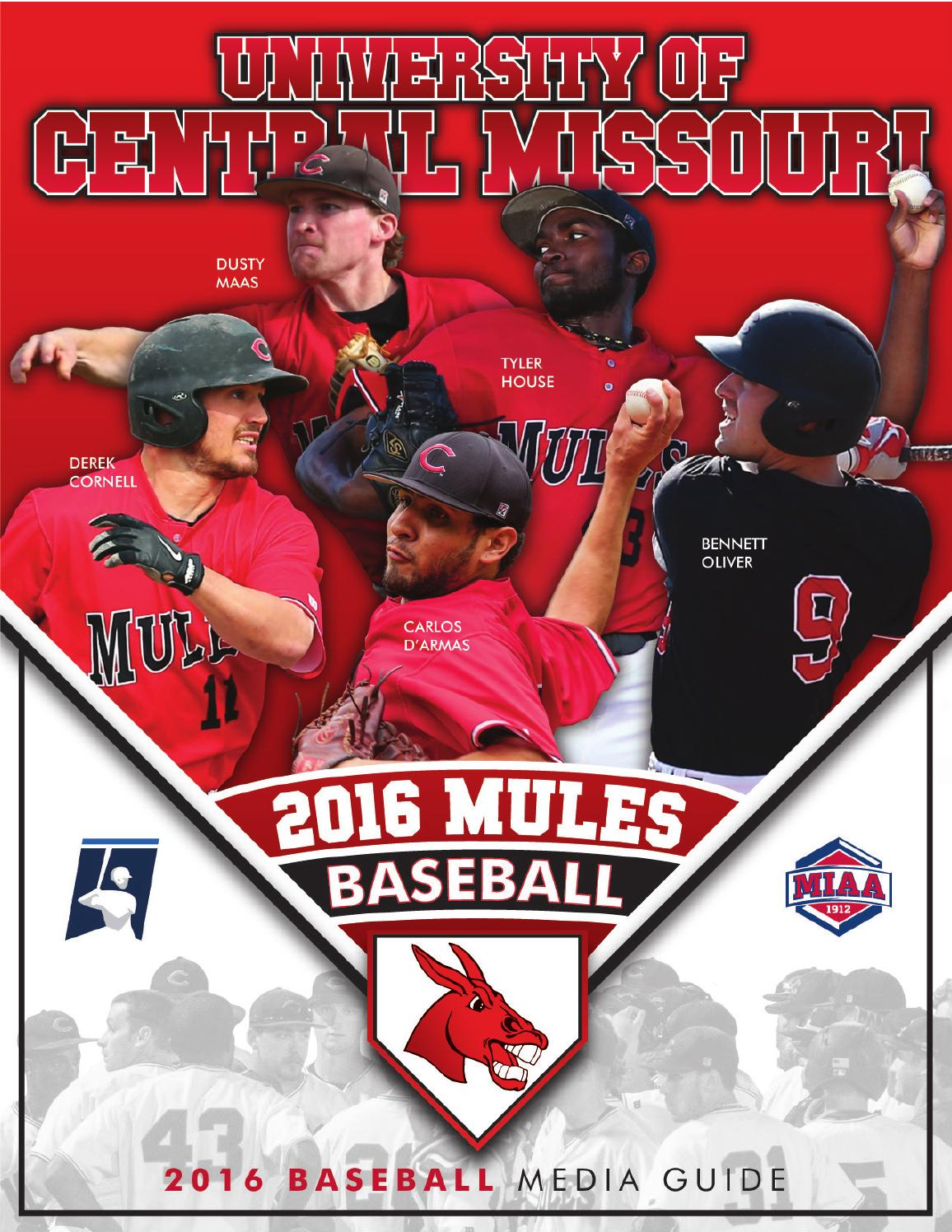 2016 Central Missouri Mules Baseball Media Guide by UCM ...