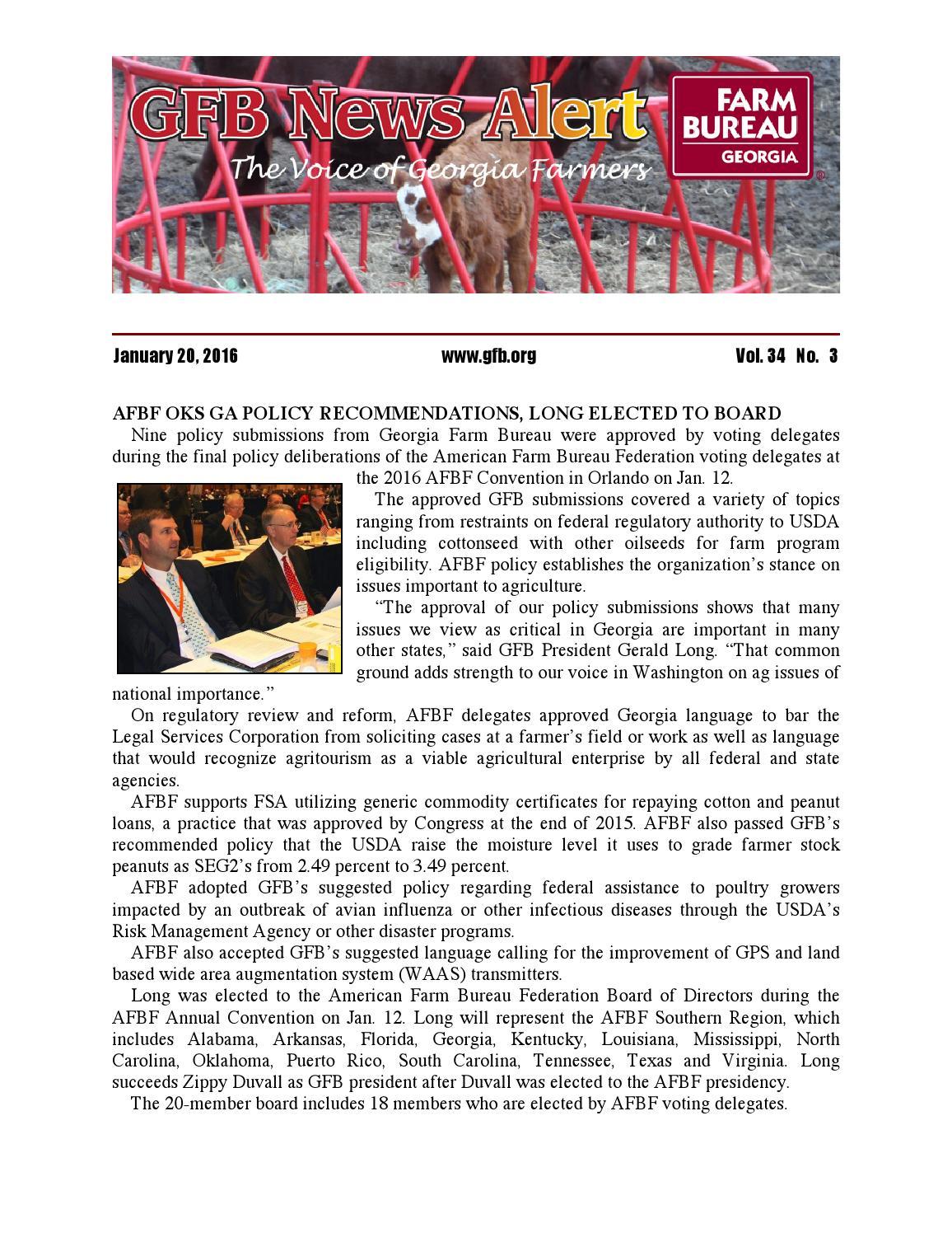 georgia farm bureau news alert january 20 2016 by georgia farm bureau issuu. Black Bedroom Furniture Sets. Home Design Ideas