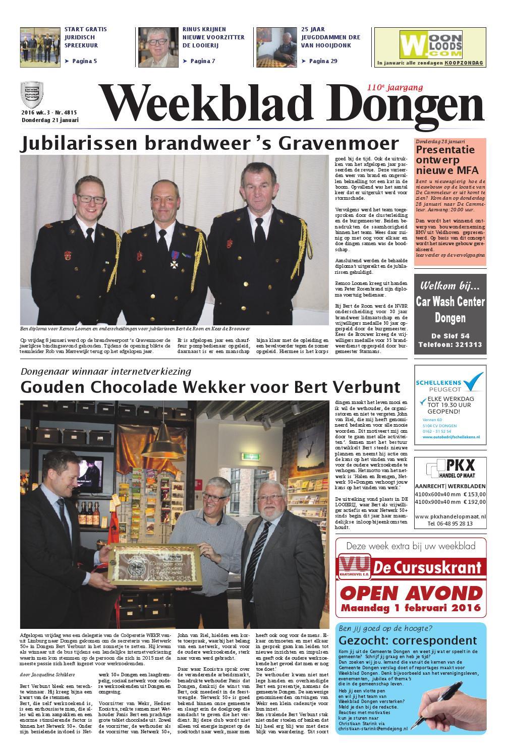 Weekblad dongen 01 09 2016 by uitgeverij em de jong   issuu