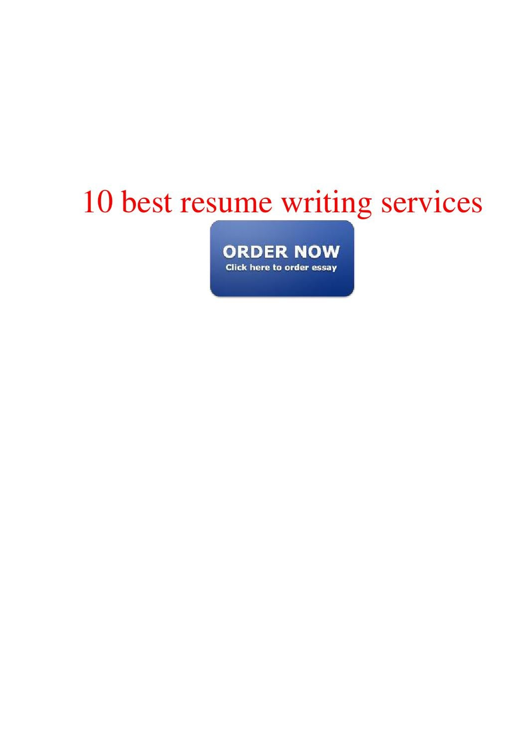5 Best Resume Writing Services