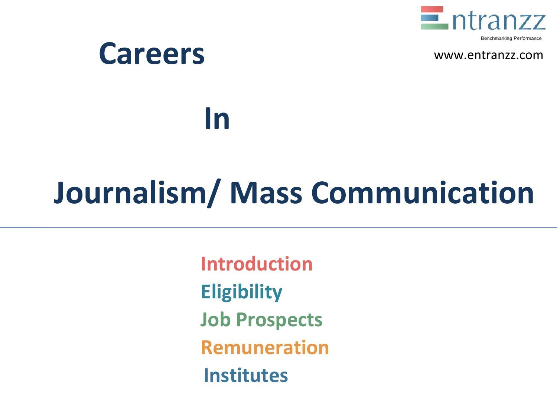 Jobs in Mass Communication & Journalism