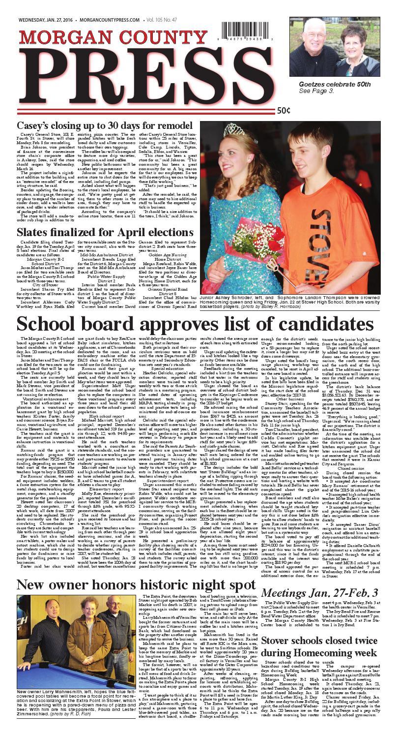 Morgan County Press Jan 27 2016 By Pipistrelle Press Issuu