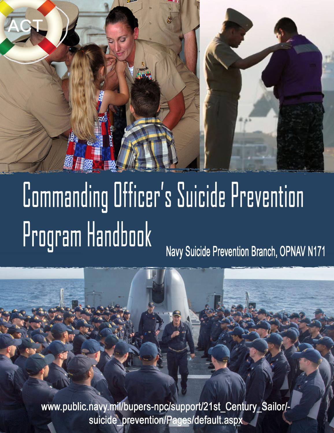 Commanding Officer's Suicide Prevention Program Handbook by U.S. ...