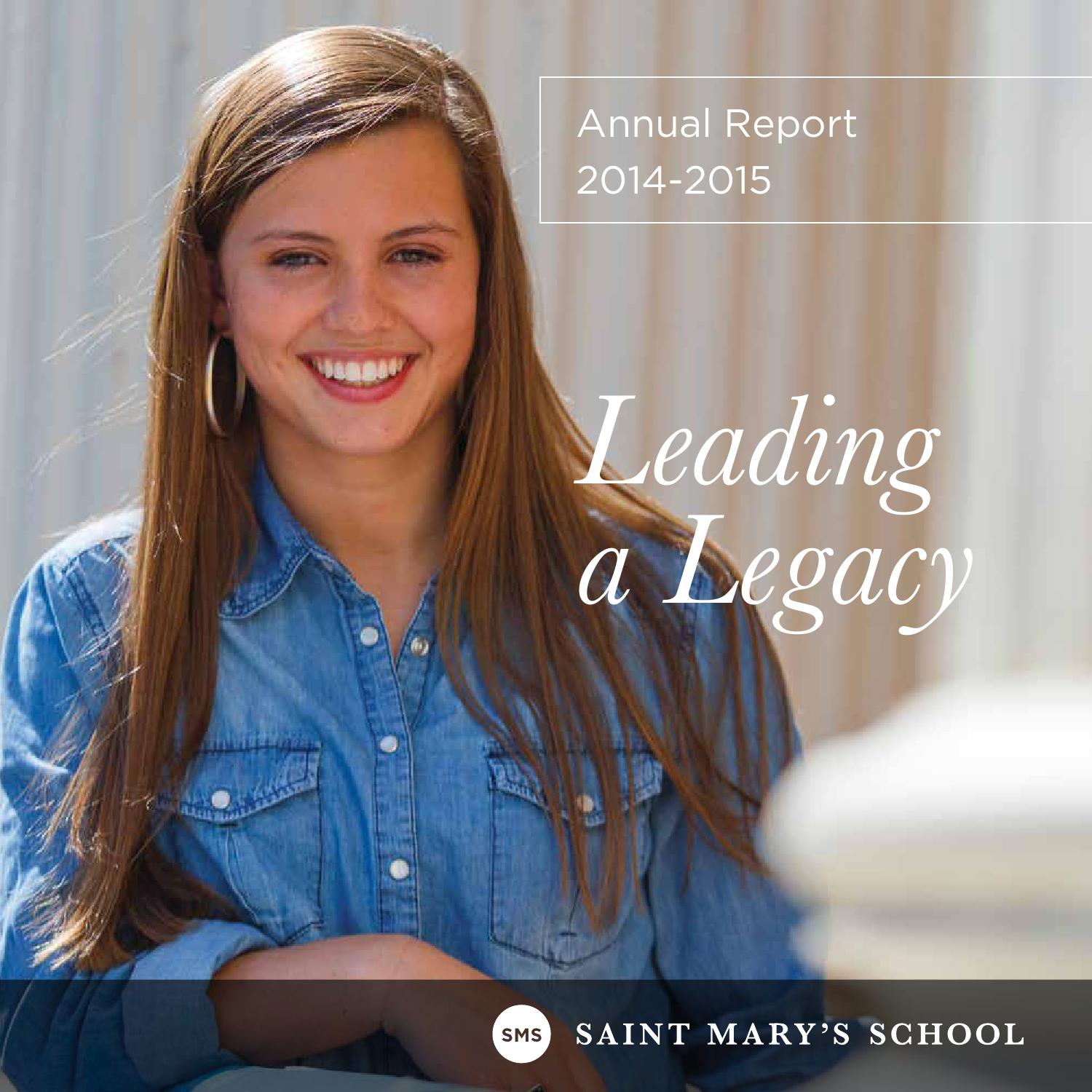 Saint Mary S Annual Report 2014 2015 By Saint Mary S