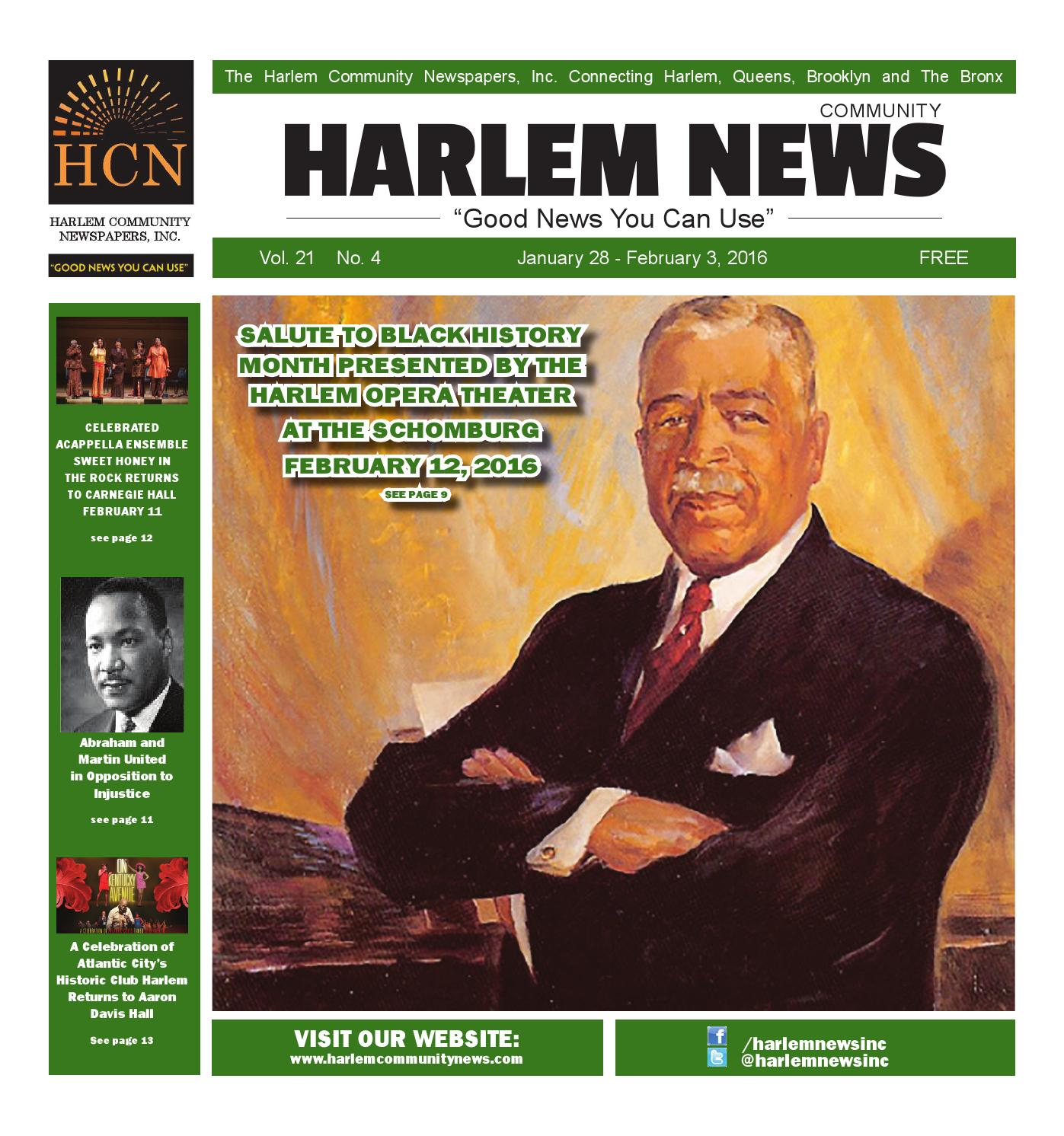HARLEM COMMUNITY NEWSPAPERS | January 28, 2016 by Mike ...