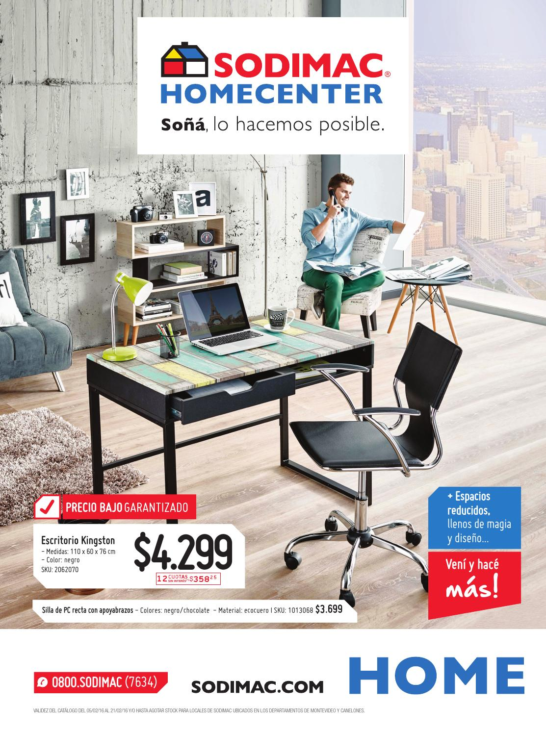 Sodimac homecenter cat logo febrero 2016 uy by sodimac for Sillas para oficina sodimac
