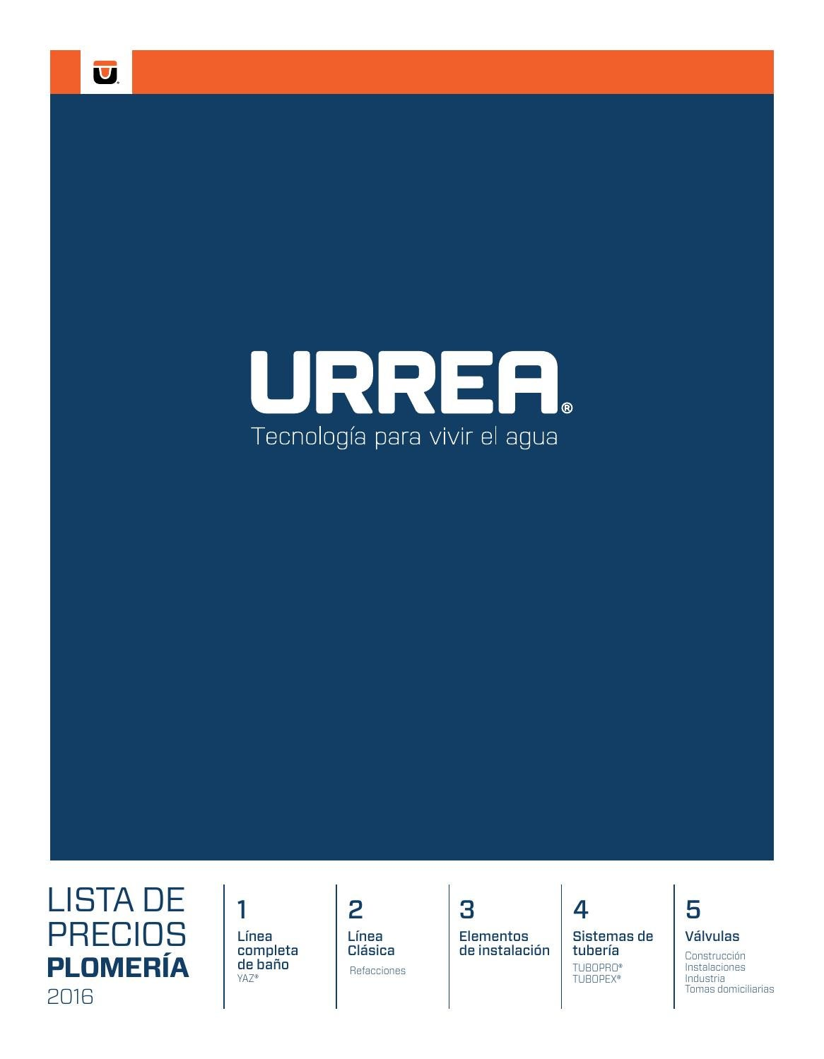 Lp urrea plomer a 2016 by urrea m xico issuu for Urrea llaves para bano