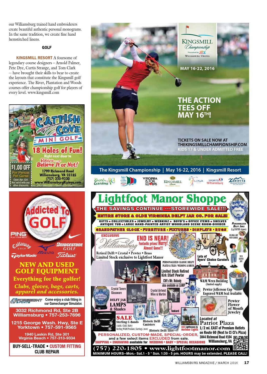 Ki kingsmill resort - March 2016 Williamsburg Magazine By The Virginia Gazette Page 17 Issuu