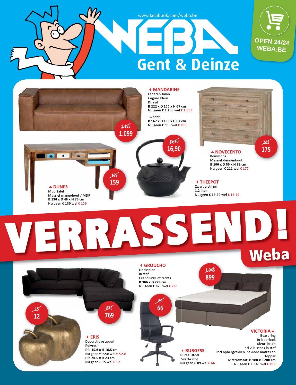 Folder van WEBA by WEBA Meubelen issuu