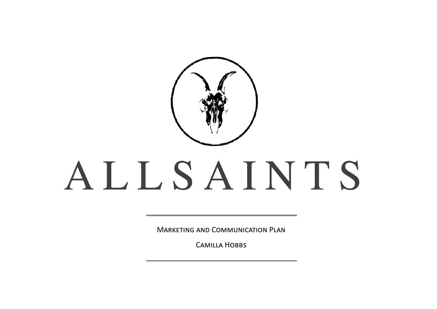 all saints marketing report by robyn armfield issuu 1st year allsaints marketing and communications plan
