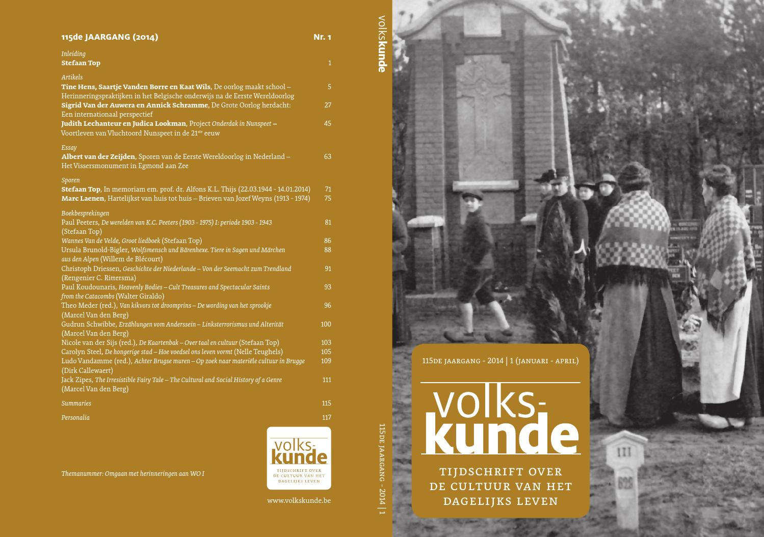 Volkskunde 113 - 2012:1 by Paul Catteeuw - issuu