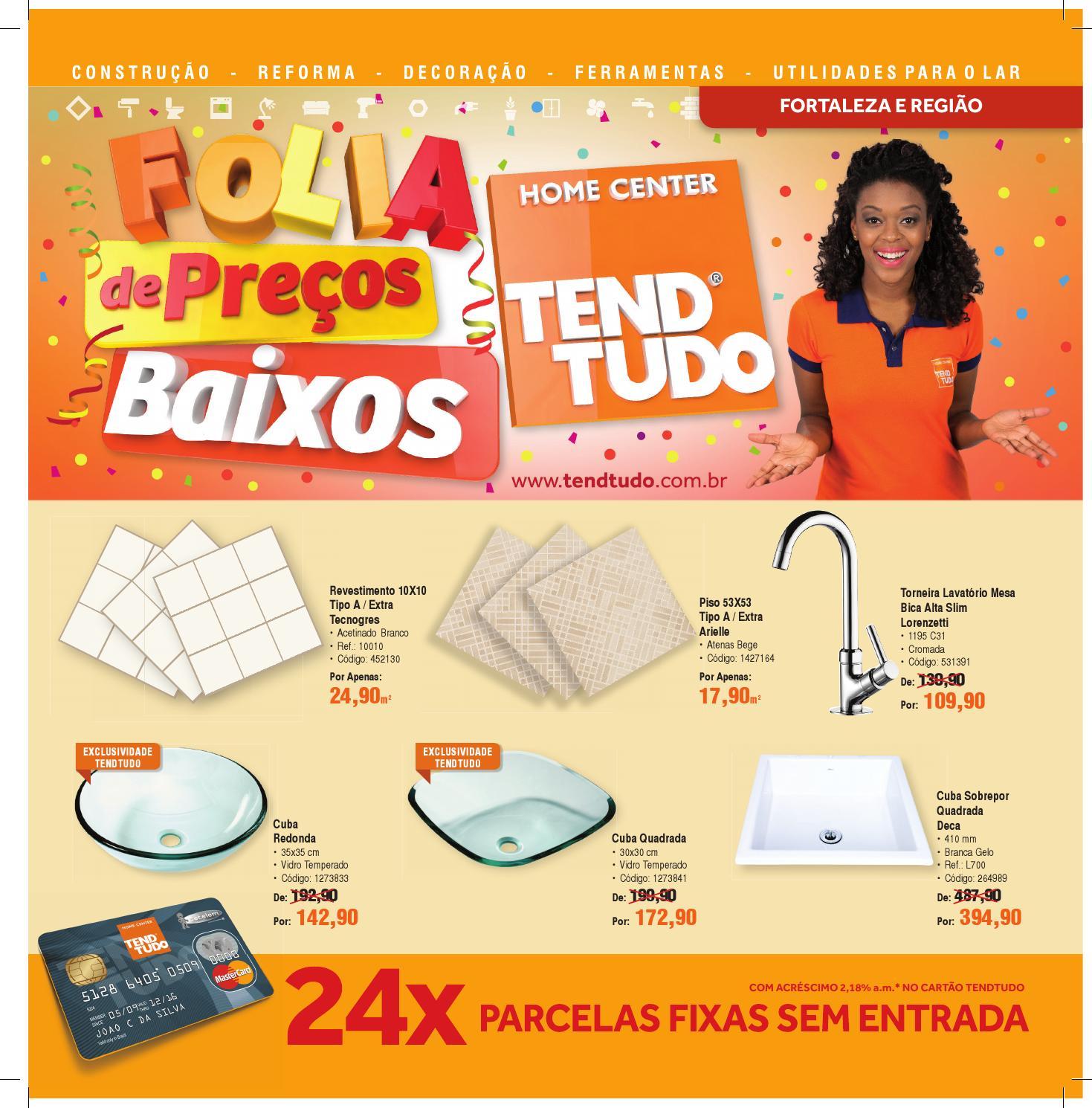 Folia de Preços Baixos TendTudo Fortaleza by BR Home Centers  issuu -> Cuba Para Banheiro Na Tend Tudo