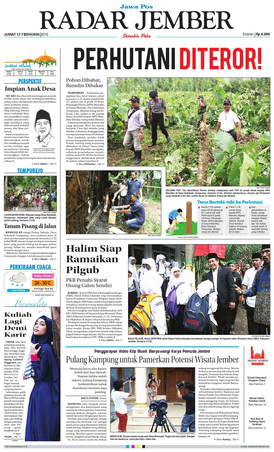 jember 120216 rj by radar jember online issuu