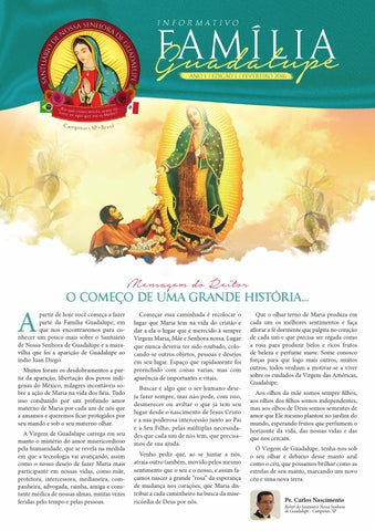 [Informativo Família Guadalupe – 1ª Edição]