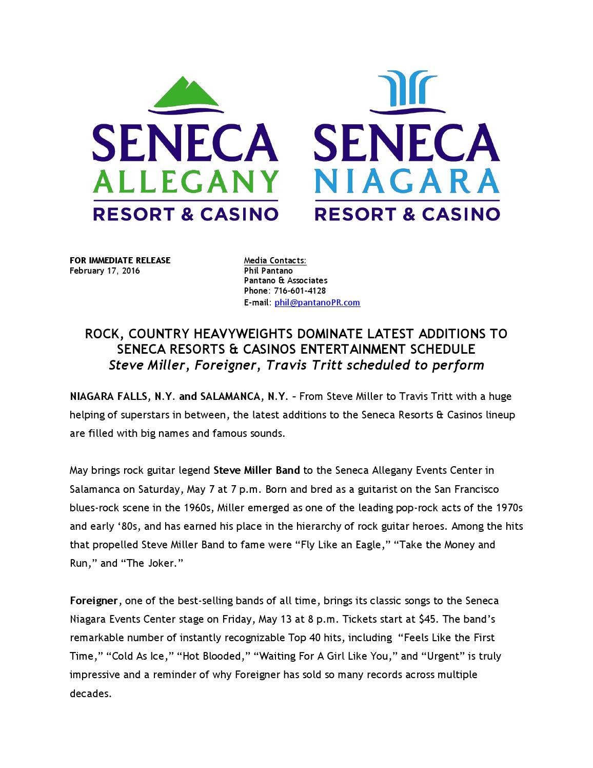 Rock seneca niagara casino best gambling strategies free