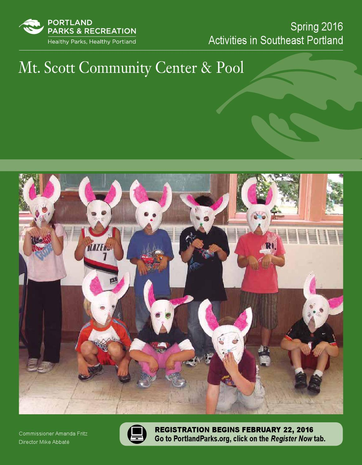 Mt scott community center spring 2016 by portland parks - Spring hill recreation center swimming pool ...