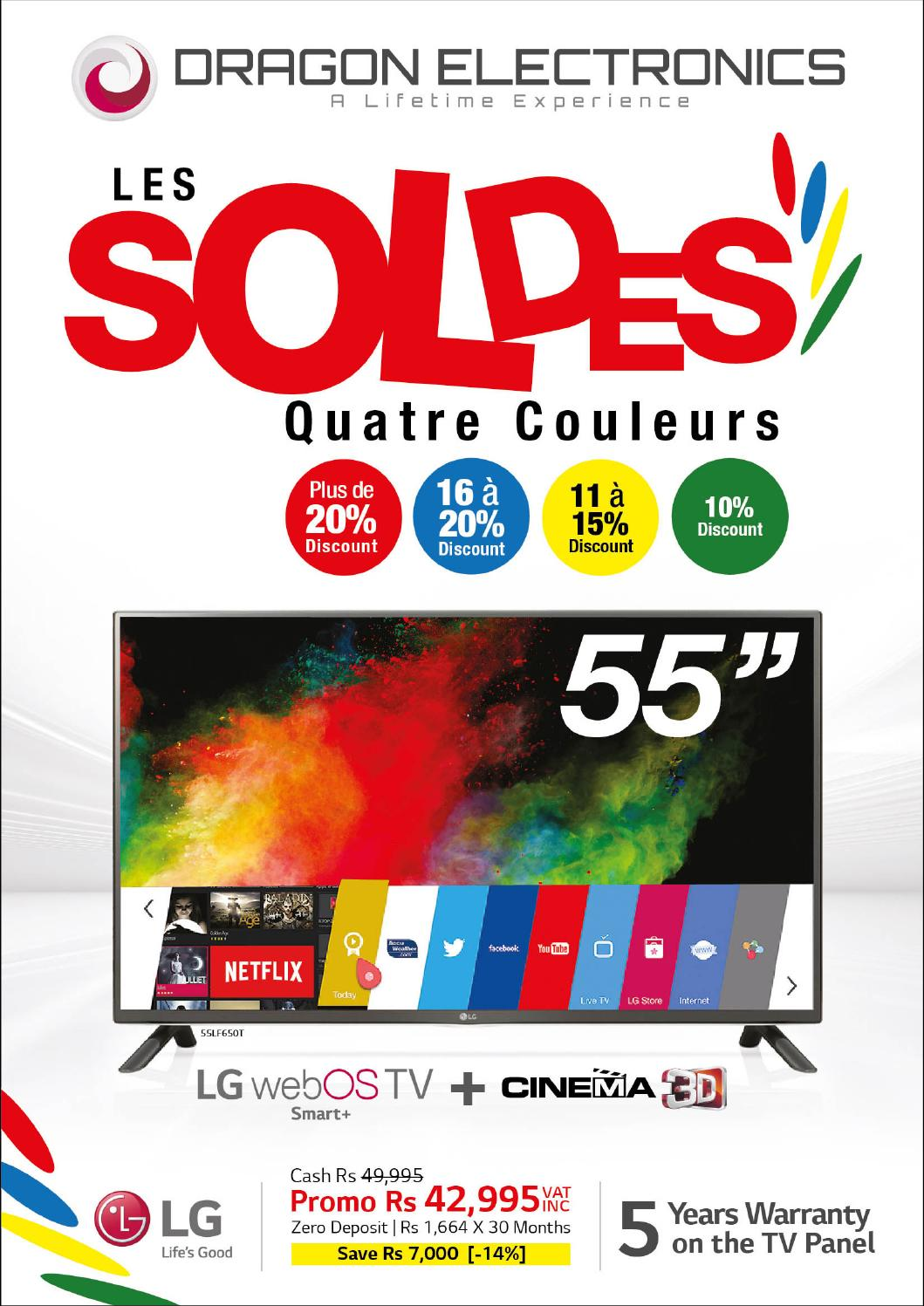 dragon electronics brochure les soldes quatre couleurs by. Black Bedroom Furniture Sets. Home Design Ideas