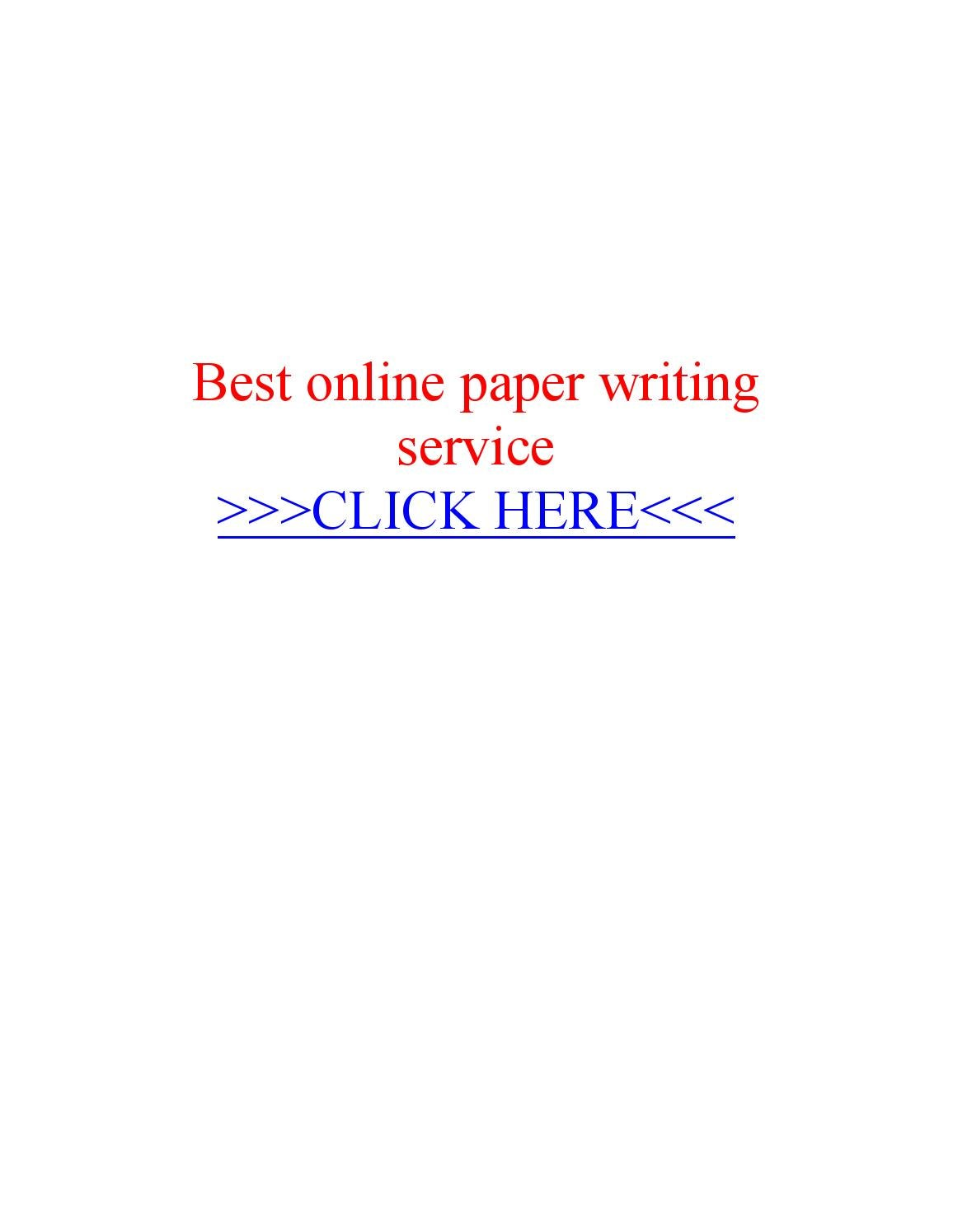 Best paper writers