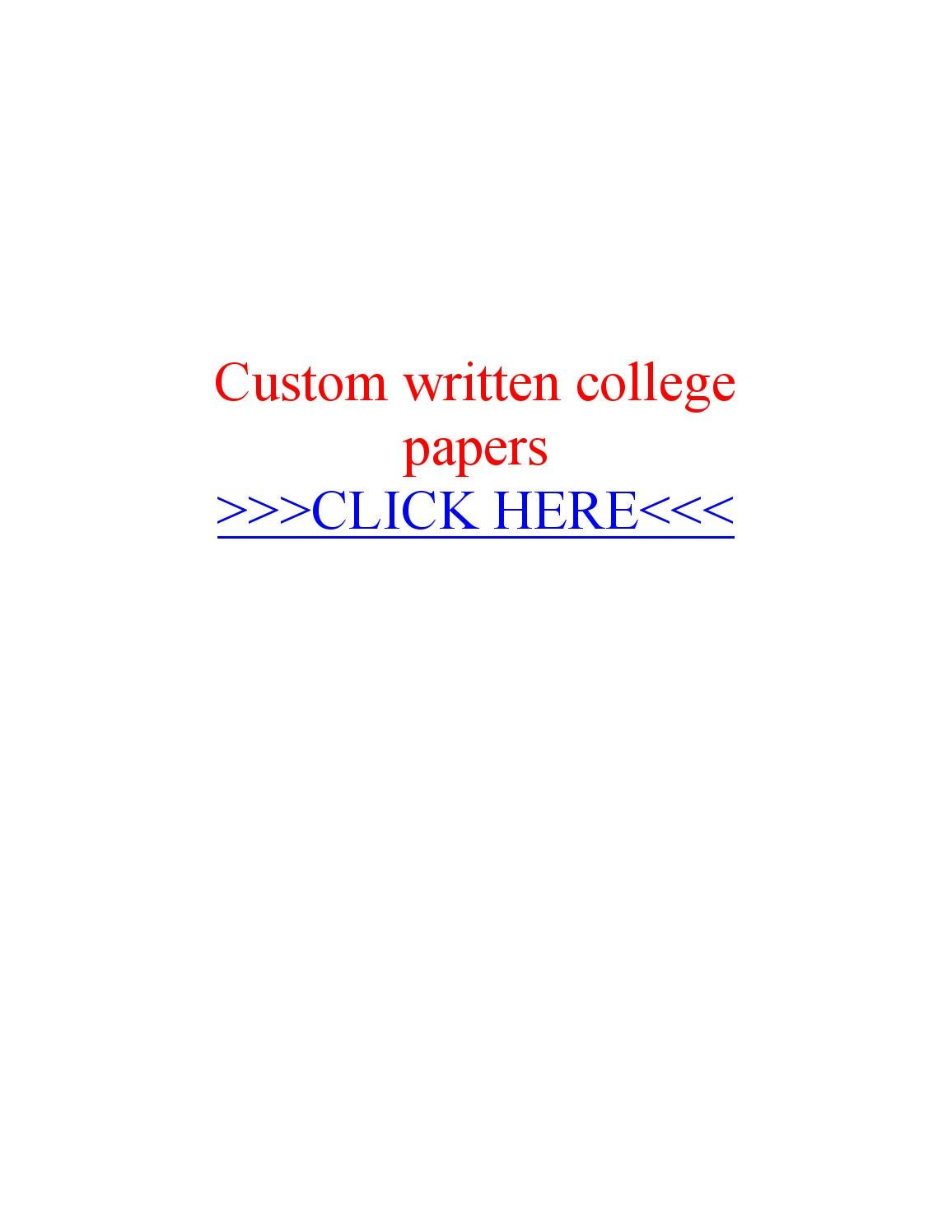 Customs college papers